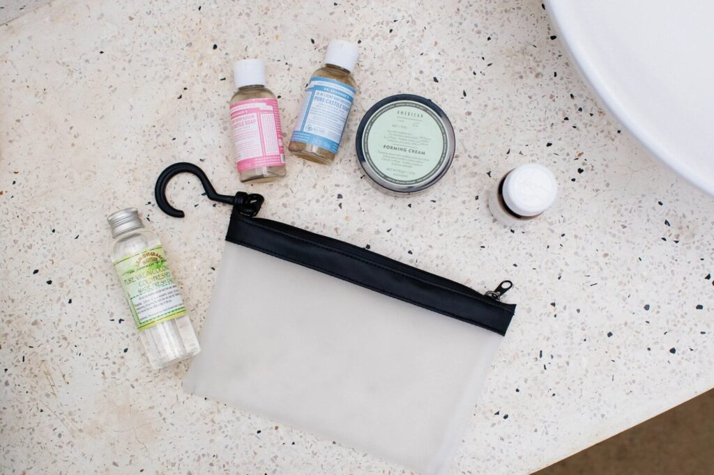 Travel size mini toiletries